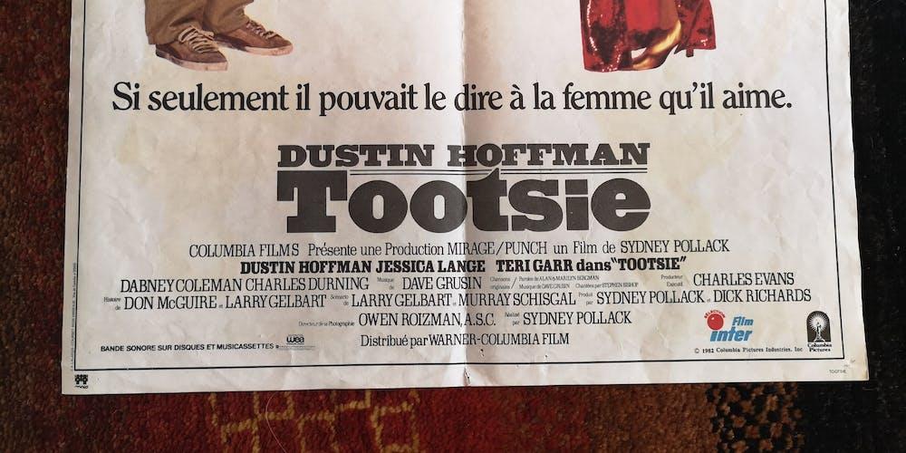 Affiche poster cinéma 'Tootsie'