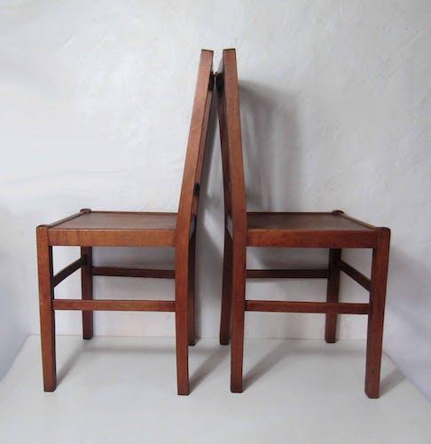 Paire de chaises cannées bistrot vintage format adulte Luterma estonie