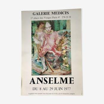 Affiche originale d'exposition 1977