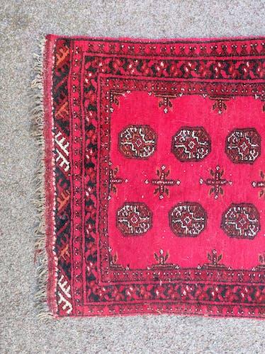 Tapis de couloir afghanistan laine fait main 340x86cm