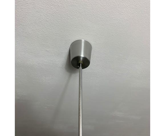 Suspension 5 feux en aluminium brossé