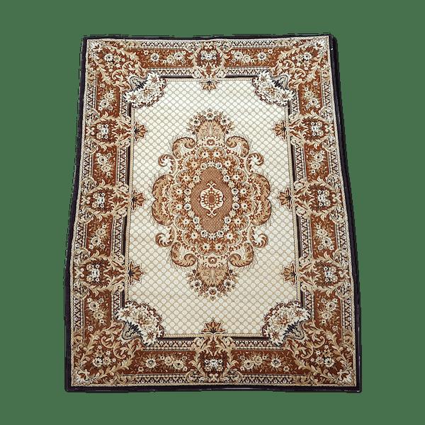 62f0b000fe7 Tapis persan en laine 290x200 cm - laine coton - marron - éthnique - lfp3P67