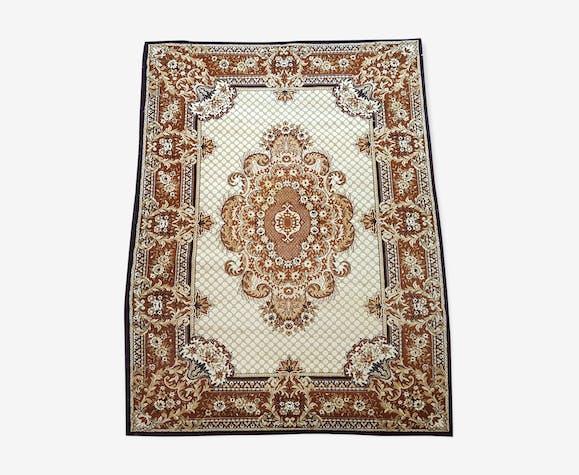eaaffea01a3 Tapis persan en laine 290x200 cm - laine coton - marron - éthnique ...