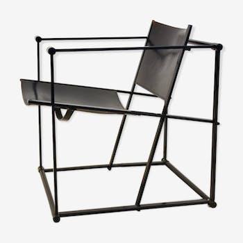 FM62 Cubic leather lounge chair by Radboud van Beekum for Pastoe, Dutch design