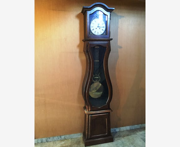 horloge comtoise romanet morbier bois mat riau marron classique 139323. Black Bedroom Furniture Sets. Home Design Ideas