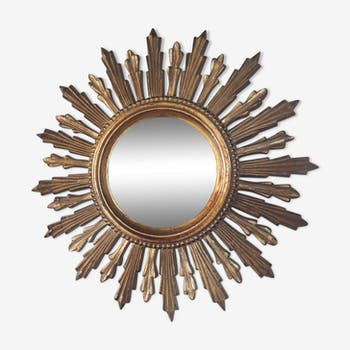 Mirror soleil résine 48 cm années 50 60's 48x48cm