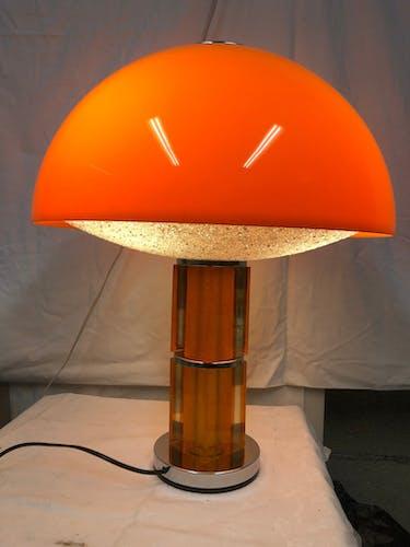 Lampe champignon pléxiglass des années 70