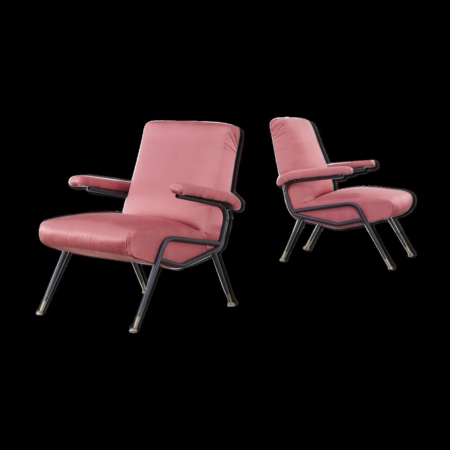 Paire de fauteuils design italien 50's