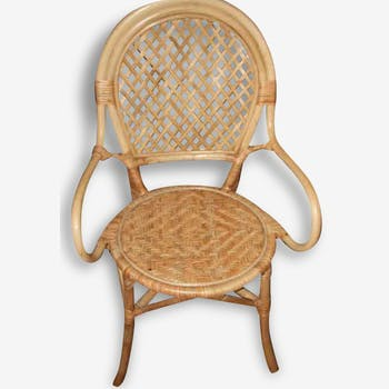 Two rattan armchairs, excellent condition