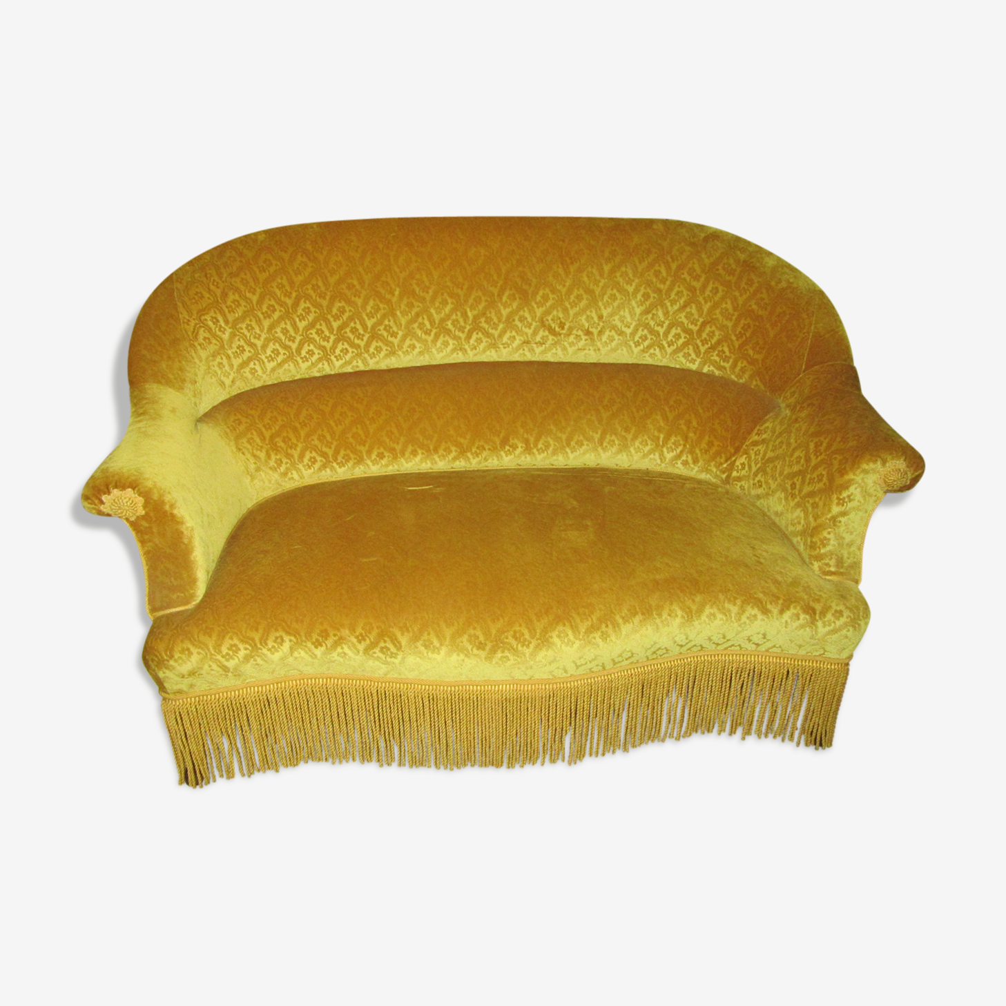 Toad yellow velvet sofa