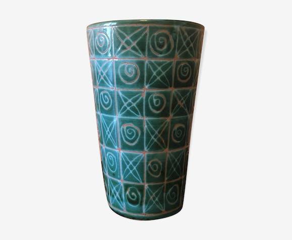 Vase Robert Picault, vert et blanc - céramique, porcelaine ...