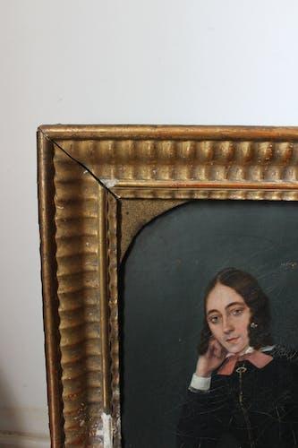 Portrait de femme encadrée, 1850