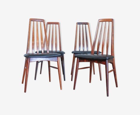 Set de 4 chaises par Niels Kofoed pour Koefoeds Mobelfabrik, années 1960