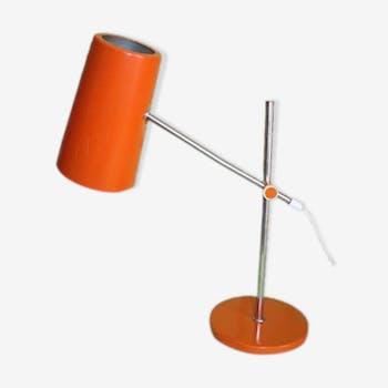 Métal 60 Orange Vintage Bureau Lampe 147970 De Années SMUpzV
