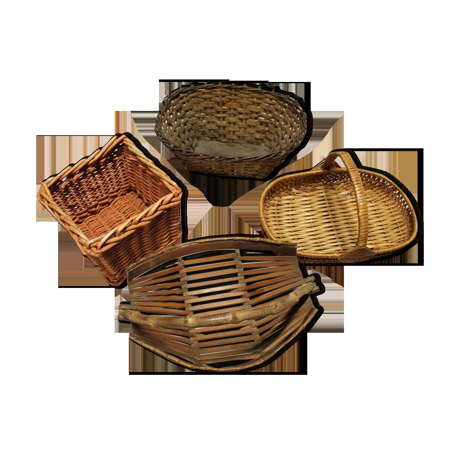 230/mm x 150/mm x 65/mm marron Olympia T364/Poly en osier ovale Panier de nourriture lot de 6