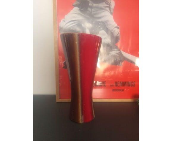 Vase vintage rouge style Vallauris
