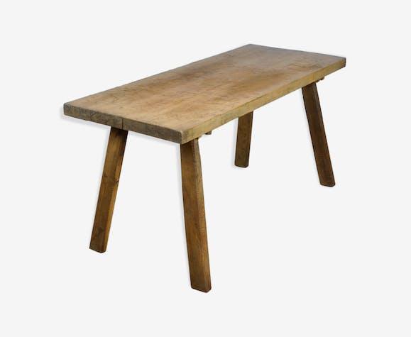 Table de boucher en chêne des années 1940