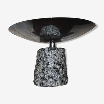 Lampe halogène vintage céramique chrome