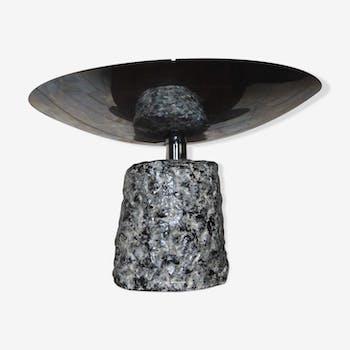Vintage ceramic halogen lamp chrome