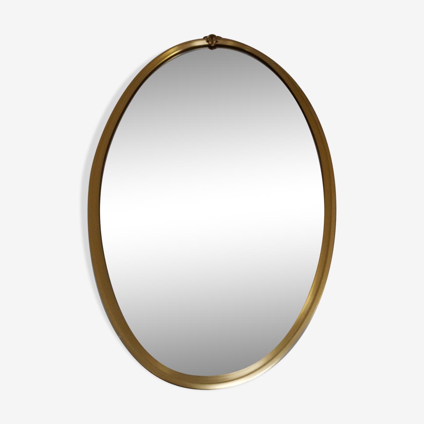 Miroir oval doré 63x37cm