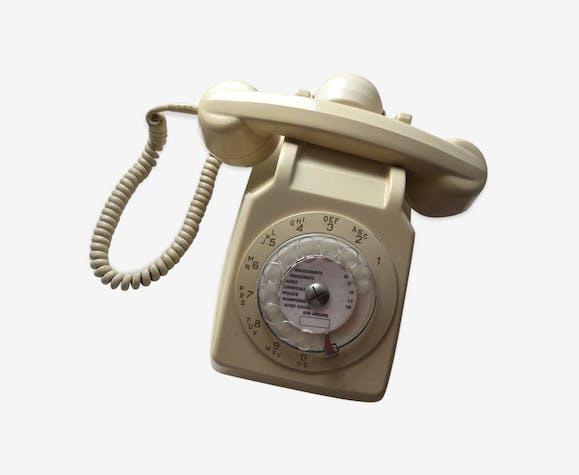 Phone Vintage 70s Plastic Beige Vintage Auqofcv