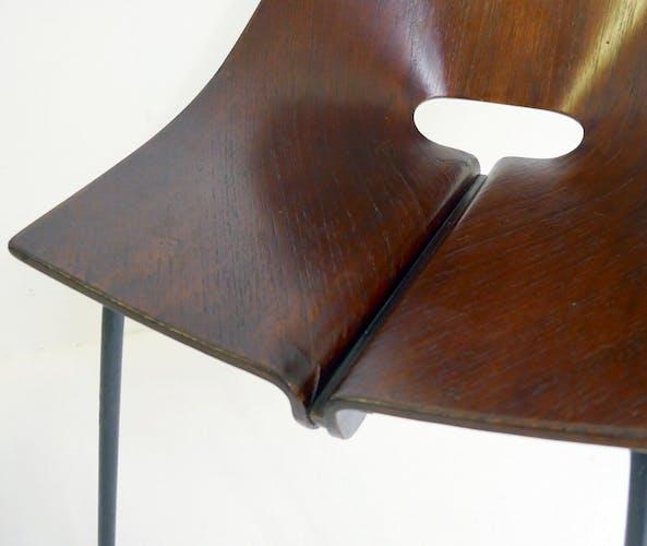 Set of two italian chairs designed by  Carlo Ratti, circa 1960