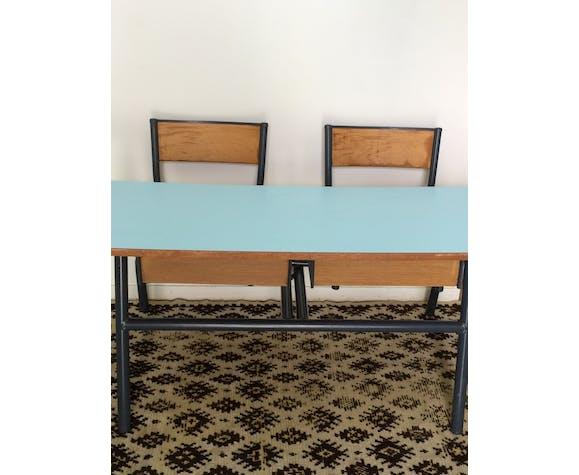 Sky blue formica desk