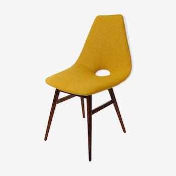 Chaise de style danois vintage en laine miel
