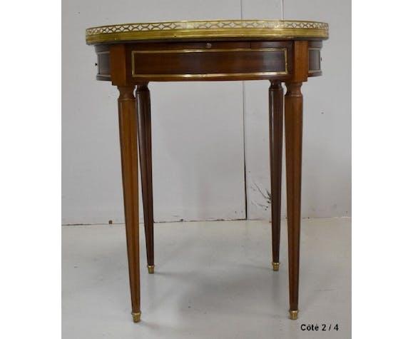 Table bouillotte en acajou, style Louis XVI – début XXe