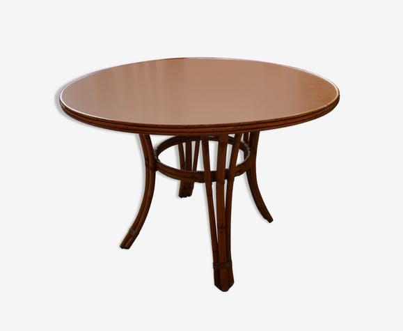 Table ronde de salle à manger bois