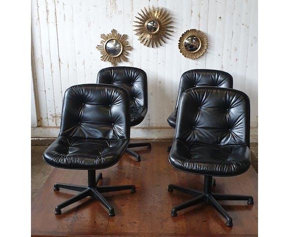 Fauteuils de bureau vintage  design Charles Pollok pour Comforto