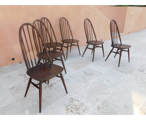 Lot of 6 Chairs Scandinavian style Ercol