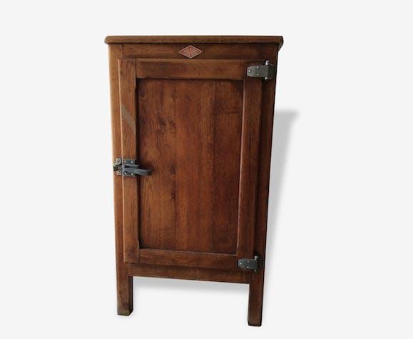 Ancienne glaci re en bois bois mat riau bois couleur industriel 121076 - Meuble glaciere bois ...