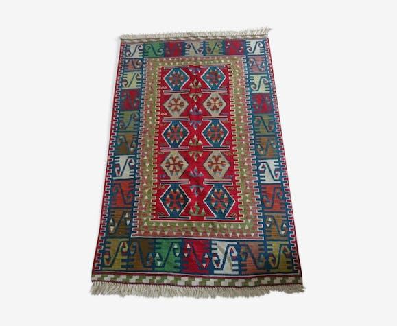 Kilim tapis turc tissés à la main en pure laine, 200x125cm