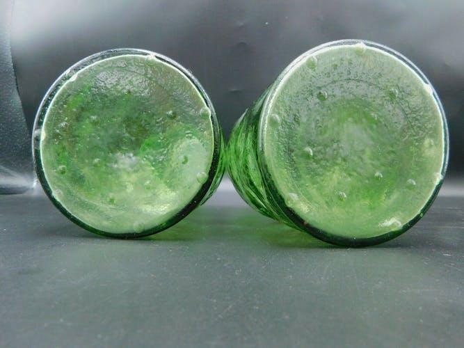 Bouteilles en verre vert
