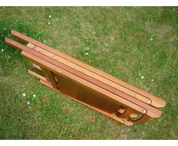 Lot de 2 chaises pliantes en bois clair
