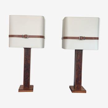 Paire de lampes années 1970