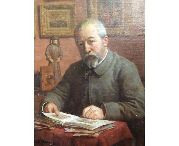 Portrait d'homme à son bureau