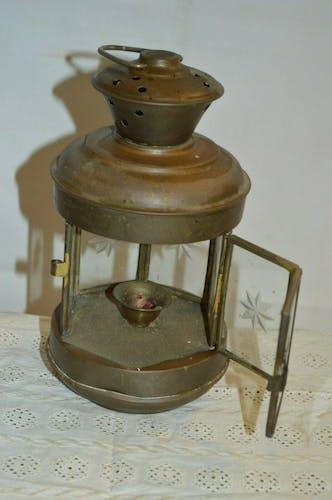 Lanterne à bougie en laiton