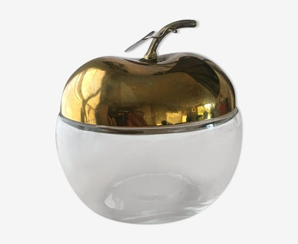 Brass apple-shape candy box