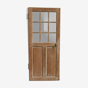 Glass raw oak door