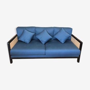 2/3-seat canning sofa and blue fabrics