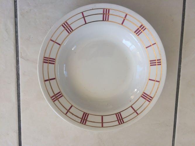 "Lot of 7 pieces in semi porcelain orcerame series ""richelieu"" 1950s"