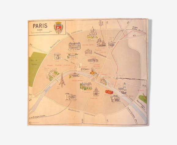 School map MDI PARIS and the Paris region