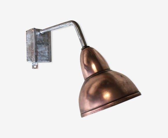 Applique potence de rue lampadaire en cuivre fer et fonte d'alu