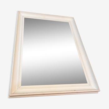 White wood frame mirror 50x70cm