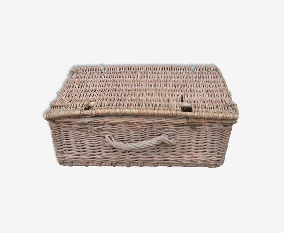 basket vintage 1960 rattan/wicker fisherman