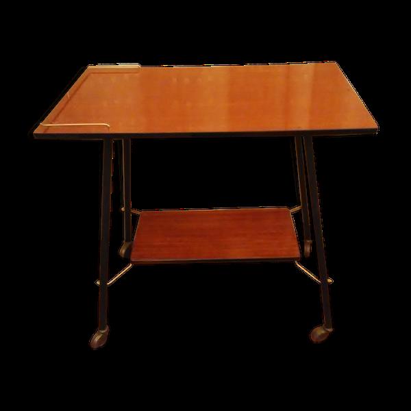 Table télé vintage à roulettes