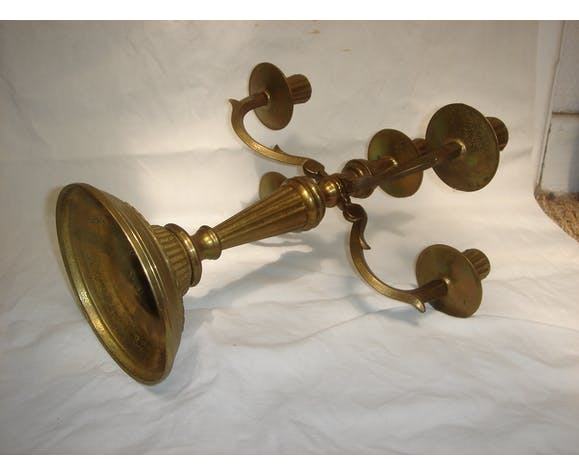 Paire de bougeoirs Candlesticks 5 fires mid 20th