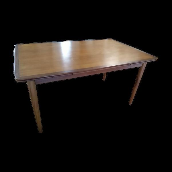Table extensible en teck scandinave Samcom 1960